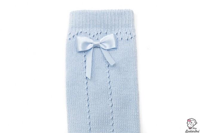 Calcetines Azul Celeste calados con lazo