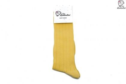 calcetín largo amarillo mostaza