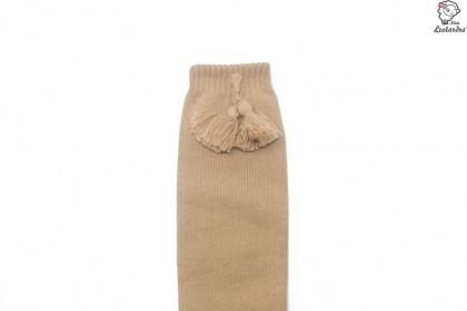 Calcetines altos con borlas Haya