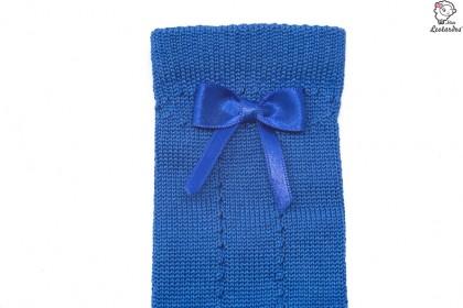 Calcetín alto con lazo azul oceano niña niño bebé