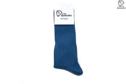 calcetín alto azul niña niño bebé