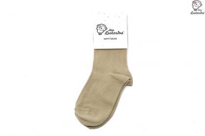 calcetín corto camel niña niño bebé