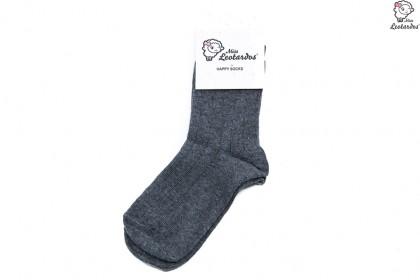 calcetín corto gris medio niña niño bebé