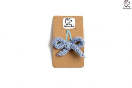 horquilla clip azul denim