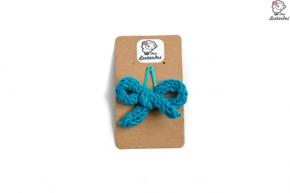 horquilla clip azul turquesa