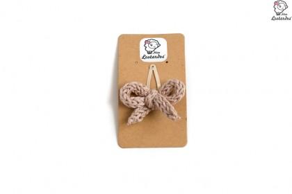 horquilla clip beige
