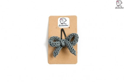 horquilla clip gris medio