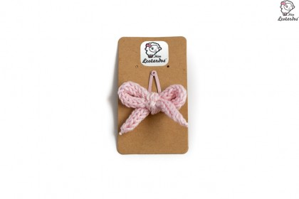horquilla clip rosa