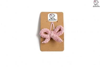 horquilla clip rosa palo