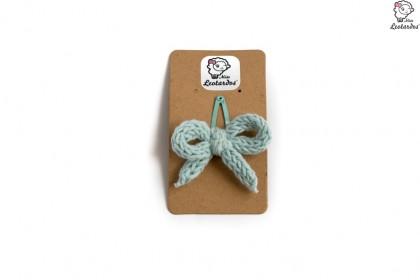 horquilla clip verde pastel