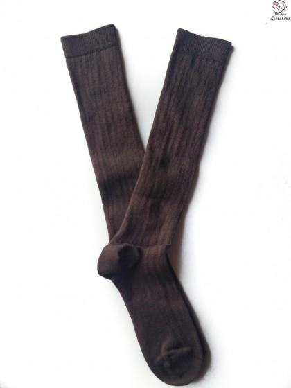 Calcetines colegiales Marrones para niño y niña
