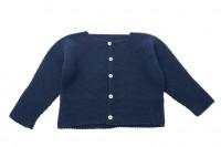 chaqueta bebe punto bobo azul marino