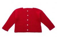 chaqueta bebe punto bobo rojo