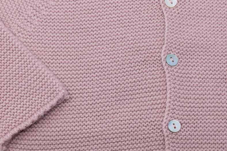 chaqueta infantil punto bobo detalle boton