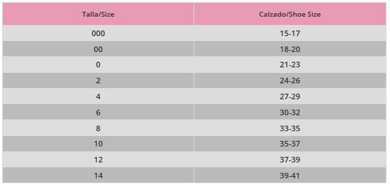 CALCETINES HILO DE ESCOCIA - Guia de tallas